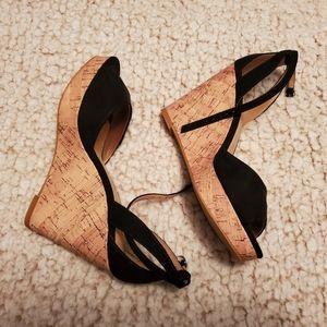 HM Black Wedged Heels